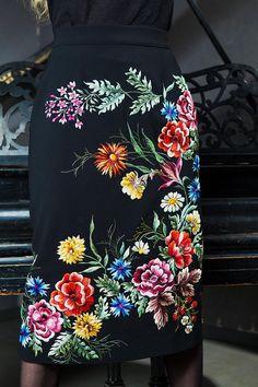 Embroidered skirt midi skirt black skirt black skirt in boho black boho skirt women skirt floral skirt pencil skirt