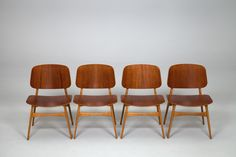 borge mogensen chairs with solid beech frame + molded teak plywood seat + back | 1950 | #vintage #1950s #home