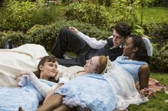 'Deceptive idyll: Ella Purnell, Eleanor Tomlinson, Anthony Boyle and Crystal Clarke in Ordeal by Innocence. Agatha Christie, Ordeal By Innocence, Anthony Boyle, Eleanor Tomlinson, Bbc Drama, New Tv Series, Bbc Tv, Romance, Filming Locations