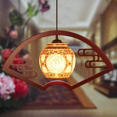 110.20$  Buy now - http://ali2rt.worldwells.pw/go.php?t=32740521750 - Antique Retro Ceramic Lamp Vintage Lamp Loft E27 90-260V Porcelain Pendant Lamp Fan light  Home decoration Indoor Lighting  110.20$
