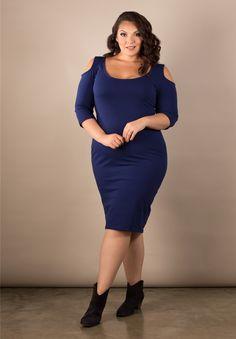 Plus Size Dresses   Ivy Cold Shoulder Body Con   Swakdesigns.com