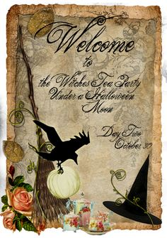 Welcome to a Witch's Tea Party under a Halloween Moon . . .