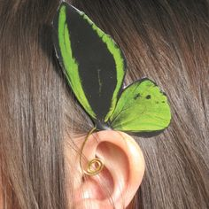 Birdwing Butterfly Ear Cuff Jewelry by NightLilyDesign on Etsy, $12.00