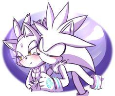 Silver: You're so pretty Blaze. Blaze: Oh, Silver, stop, everyone's watching.