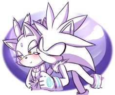 Silver: You're so pretty Blaze. Blaze: Oh, Silver, stop, everyone's watching.