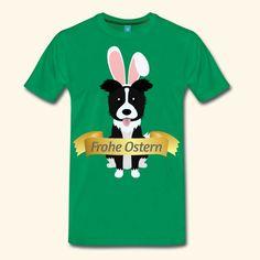 peter2art - berührend und bewegend | Border Collie Frohe Ostern Hasenoren Hundebesitzer - Männer Premium T-Shirt Collie, Mens Tops, Rabbit Ears, Dog Owners, Happy Easter, Working Holidays, Proud Of You