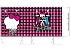Monster High en Rosa: Bolsas de Papel para Imprimir Gratis.