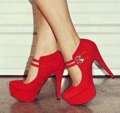 China Girl Carrey, Schuhe, Absatzschuhe, Sandaletten, Rot, Female, 36
