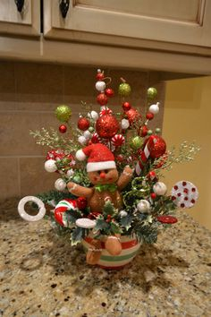 Gingerbread Man Arrangement by kristenscreations on Etsy, $54.00