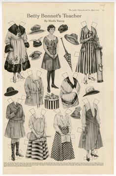 75.2925: Betty Bonnet's Teacher | paper doll | Paper Dolls | Dolls | National Museum of Play Online Collections | The Strong