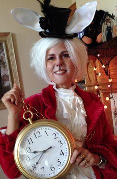 My Halloween costume this year - the white rabbit from Alice in Wonderland