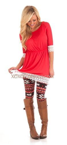 bright color and chocolate winter print fleece leggings!