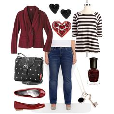 Black hearted. Plus size style.
