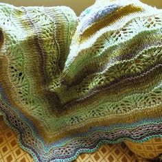 Shaelyn shawl, very pretty in Noro Aya.  have this pattern and want to try it in Noro yarn.