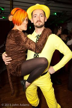 Curious George and the Man in the Yellow Hat! Couple's costume at DNA All Hallows Eve 2013
