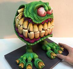 Monster clay model