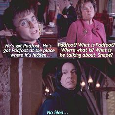 "The first time I read and saw with I was like ""Nooo Snape you can't don't do anything! You have no right blabla"""