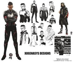 Darius Smith  of XOGENASYS  Figured I'd upload this as well incase anyone wanted refs for cosplay/fan art etc. I'm doing this along with the pages for the comic set to debut in July.  Since I like video games, I usually like to design stuff with that in mind.... I suppose that's why I take forever. Oh well. The design on the left is the most definitive look for Darius's suit. When designing characters I have to do something with them in color, at least once, otherwise it will tough for me to…