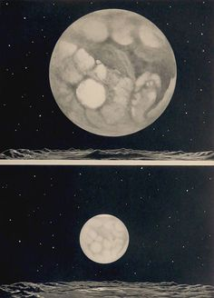 Astronomy.Antique print.1930's.Lithograph.MARS seen from