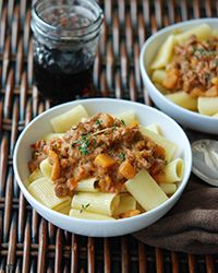 Rigatoni with #Veal Bolognese and Butternut #Squash #recipe