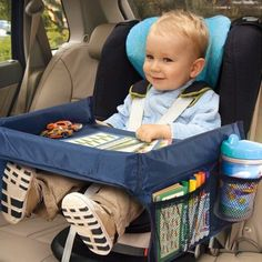 Cool baby stuff - Snack & Play Travel Tray This was great to have on our latest trip! Dawn K – Cool baby stuff Toddler Fun, Toddler Learning, Toddler Toys, Baby Lernen, Travel Tray, Baby Gadgets, Infant Activities, Airplane Activities, Travel Activities