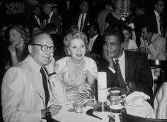 Ciro's Nightclub Jack Benny, Mary Livingston, Sammy Davis Jr. c. 1953