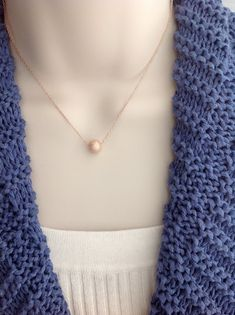 Rose gold stardust bead necklace with 18kt by WendyShrayDesigns, $24.00