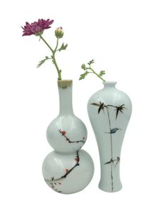 Amazon.com - JSAron Small Porcelain Hand Made Bottle Home Decoration Gift, 2 in 1 set -