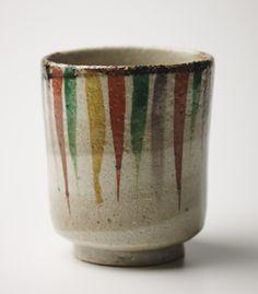 Akenna Tea Bowl Tea bowl, Aka-e Hideo Qin / box by Hata Hideo