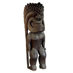 Figure of the war god Ku-ka'ili-moku, probably 1790-1810, Hawaii. Almost 9 feet tall. British Museum. #tiki