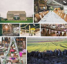 Isolated and simple, Stone Barn is a fantastic choice for your wedding destination. We love all of the wedding bunting and pretty decorations that go so well with its already built in character. It has attached Dutch barns which add so much to the venue and they are also home to Britain's largest  barbeque – we're sold!