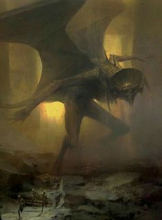 The Dark Fantasy Art of Piotr Jabłoński Fantasy Kunst, Dark Fantasy Art, Sci Fi Fantasy, Fantasy Artwork, Dark Art, Demon Artwork, Monster Art, Art Watch, Creature Concept