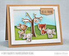 Handmade card from Debbie Olson featuring Stitched Valley Die-namics #mftstamps