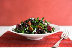 Black rice, beet and kale salad with cider flax dressing recipe (Photo: Andrew Scrivani for The New York Times)