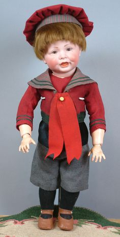 """Superb 18"""" Kammer and Reinhardt 116 Character Toddler Antique Boy Doll from kathylibratysantiques on Ruby Lane"""