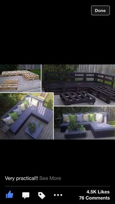 Patio furniture made of pallets. Doable.