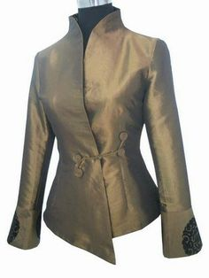 Free Shipping!Big Discount!Coffee New Chinese Women's Satin Silk Solid One Clasper Jacket Outwear Plus Size M-6XL WLJ00190 $29.00