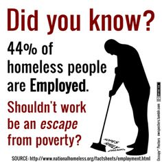 Source: www.nationalhomeless.org/factsheets/employment.html