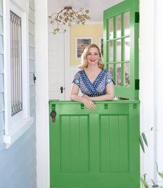 Interior Dutch Split Door | Green Dutch door from Country Living