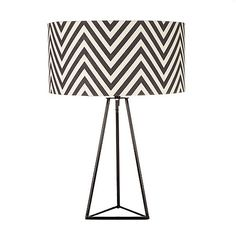 Betty Jackson.Black Black zig zag patterned lamp- at Debenhams.com