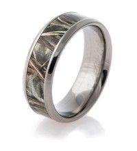 Men\'s Black Camo Wedding Ring | Wedding, Wedding ring and Camo rings