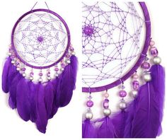 violet Decor boho Dream Catcher purple Dreamcatcher Dream сatcher dreamcatchers boho dreamcatchers wall decor handmade violet This amulet like Dreamcatcher - is not just a decoration of the interior. It is a powerful amulet, which is endowed with many Dream Catchers, Purple Dream Catcher, Dream Catcher Boho, Los Dreamcatchers, Dream Catcher Patterns, Dream Catcher Tutorial, Purple Home Decor, Diy And Crafts, Arts And Crafts