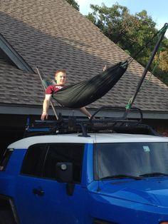 Roof rack hammock. - Toyota FJ Cruiser Forum                                                                                                                                                                                 More                                                                                                                                                                                 More