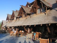 historic lodges of Yellowstone National Park, WY: