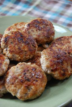 turkey breakfast sausage - I'm going to try it without maple syrup, maybe add in egg whites and ground flaxseed