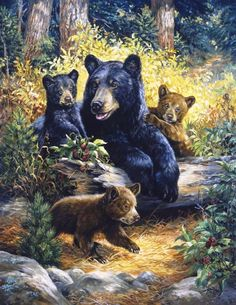 Linda Picken (b.1944) — Black Berry Bears  (833x1080)