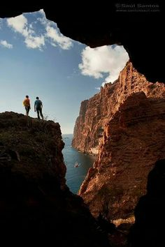 Los Gigantes in Tenerife, one of the most dramatic coastlines in the world.  Canary Islands - Spain