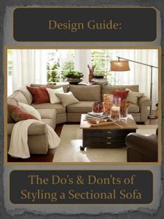 How To Quickly And Easily Create A Living Room Furniture Layout? Sectional Sofa Layout, Living Room Sectional, Sectional Sofas, Couches, Sofa Pillows, Small Living Rooms, Rugs In Living Room, Living Room Decor, Modern Living
