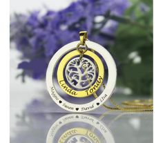 #Family Tree# #NameNecklace# in Sterling Silver FTN9