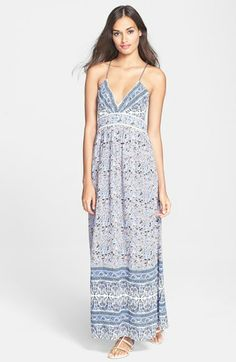 Rebecca Taylor Floral Silk Maxi Dress available at #Nordstrom mother dress option